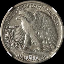 1920-D Walking Liberty Half NGC VF35 Decent Eye Appeal Nice Strike