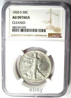 1920-S Walking Liberty Half Dollar 50C NGC AU Details Rare Date Coin