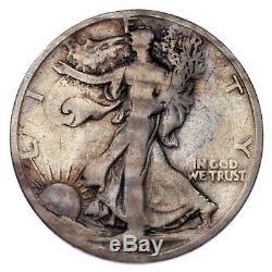 1921-D 50C Walking Liberty Half Dollar Very Good Condition, Key Date