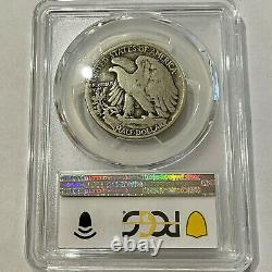 1921-D 50¢ US Walking Liberty Half Dollar Silver Coin PCGS VG08 Denver Key Date