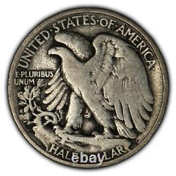 1921-D 50c Walking Liberty Half Dollar Key Date NGC F 12 SKU-B1105