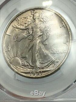 1921-D PCGS MS62 Walking Liberty Silver Half Dollar Key Date