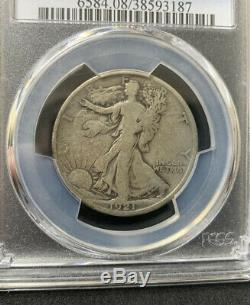 1921-D WALKING LIBERTY HALF DOLLAR PCGS VG08, No Problems Here Key date Coin