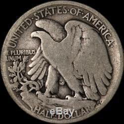 1921-D Walking Liberty Half Choice VG Key Date Great Eye Appeal Nice Strike