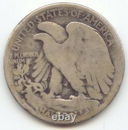 1921-D Walking Liberty Half Dollar, Key Date, Good