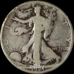 1921-D Walking Liberty Half Nice VG Key Date Nice Eye Appeal Nice Strike