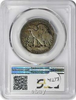 1921-D Walking Liberty Silver Half Dollar F12 PCGS
