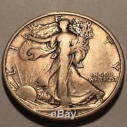 1921-D Walking Liberty Silver Half Dollar Nice Very Fine #2