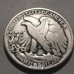 1921-P Walking Liberty Silver Half Dollar Fine