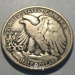 1921-P Walking Liberty Silver Half Dollar Very Fine