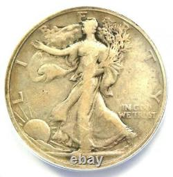 1921-S Walking Liberty Half Dollar 50C ANACS VF20 Rare Date $780 Value