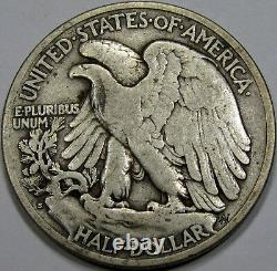 1921-S Walking Liberty Half Dollar Choice Fine+. Key Date NICE and Original