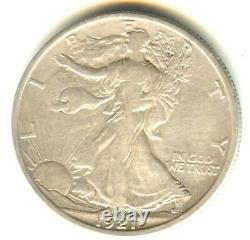 1921 S Walking Liberty Half Dollar VF+++/XF In Grade. Key Date San Francisco