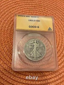 1921-d Walking Liberty Half Dollar, G-6, Key Date! Check It Out & My Others