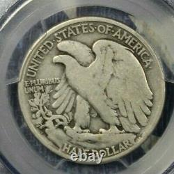 1921-d Walking Liberty Silver Half Dollar Pcgs Vg 08 Free Shipping