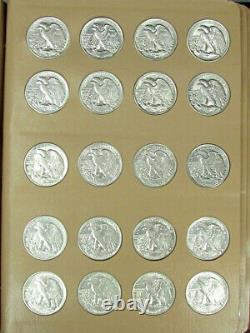 1923-1947 Complete Walking Liberty Half Dollar Set BU / AU Wow