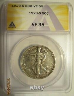 1923-S Walking Liberty Half Dollar ANACS VF 35