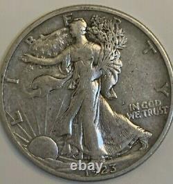 1923 S Walking Liberty silver half dollar, high grade