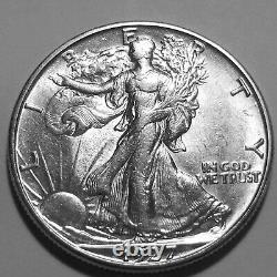 1927-S Walking Liberty Silver Half Dollar Nice BU