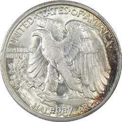 1929 D 50c Liberty Walking Silver Half Dollar US Coin AU 58 PCGS