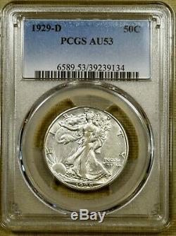1929-D PCGS AU53 Walking Liberty Half Dollar