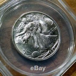 1929-S US Silver 50c Walking Liberty Half Dollar ANACS MS63 (+ extra photos)