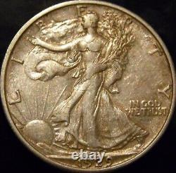 1929-S Walking Liberty Half Dollar Choice Original AU