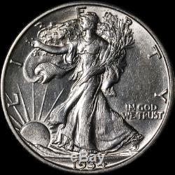 1934-S Walking Liberty Half Choice AU/BU Blast White Great Eye Appeal