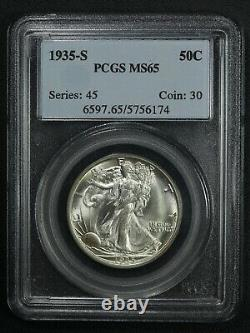 1935 S Walking Liberty Silver Half Dollar PCGS MS 65