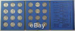 1937-47 COMPLETE Whitman Folder Walking Liberty Half Dollar Set 30 Coins Total