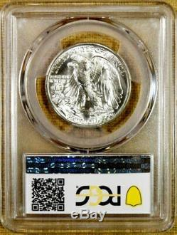 1938-D PCGS MS65+ Walking Liberty Half Dollar Key Date 100% White CAC