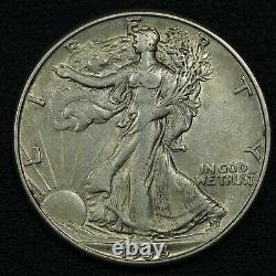 1938 D Walking Liberty Silver Half Dollar
