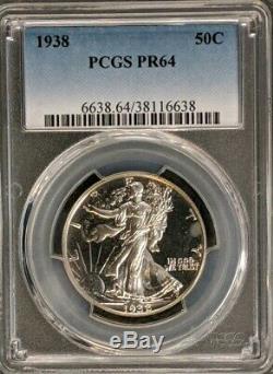1938 Proof Walking Liberty Silver Half Dollar PCGS PR64 979 Low Mintage