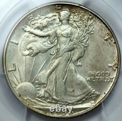 1938-d, (hard Is This Grade), Walking Liberty Half (wlh), Pcgs Ms63