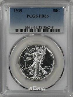 1939 Proof Walking Liberty Half Dollar 50c Pcgs Certified Pf Pr 66 (248)