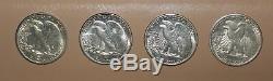 1941-1947 Gem Uncirculated Complete Walking Liberty Half Set Dollar/Dansco Album