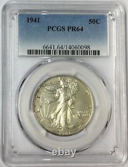 1941 50C Walking Liberty Half Dollar PCGS PR64 #T3