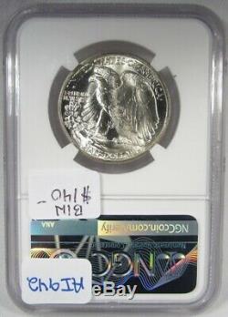 1941-P Silver Walking Liberty Half Dollar NGC MS66 Coin AI942