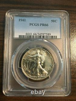 1941-P Walking Liberty Silver Half Dollar 50C PCGS Proof PR 66 RARE Walker