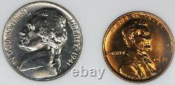 1941 US Proof Set Walking Liberty Half, Quarter, Nickel, Cent and Mercury Dime
