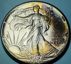 1941 Walking Liberty Silver Half Dollar CHOICE Toned BU! Fast Free Shipping #B60