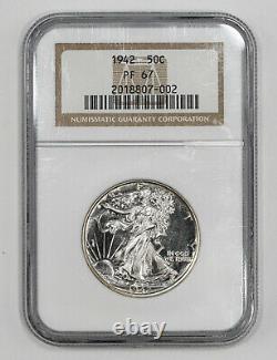 1942 Proof Walking Liberty Half Dollar 50c Ngc Certified Pf 67 (002)