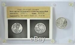 1943-D Walking Liberty Half Dollar Old ANACS MS65/MS67 Photo Certificate Type 4