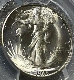 1946-D Silver Walking Liberty Half Dollar 50c PCGS MS66 CAC Lustrous & Frosty