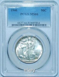 1946 P PCGS MS66 Walking Liberty Half Dollar