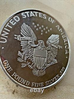 1986 Walking Liberty Lady 1 Pound Fine Silver. 999 Very Heavy Large Round USA