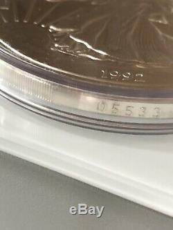 1992 GIANT WALKING LIBERTY PROOF ONE HALF POUND 8 OZ Fine Silver. 999, RARE COIN