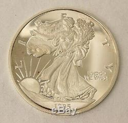 1995 Walking Liberty Proof 8 OZ. 999 Silver Round