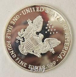 1995 Walking Liberty Proof 8 OZ. 999 Silver Round