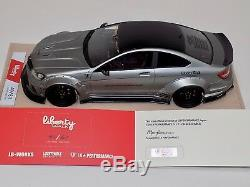 1/18 Mercedes Benz CLK C63 AMG Liberty Walk LB Performance Matt Silver Alcantara